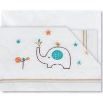 Triptic Llençols Cuna Elefants Blanc Taronja Pirulos